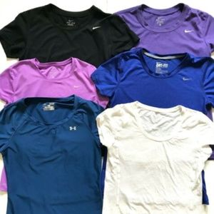 Nike Under Armour T Tee Shirts Short Sleeve S XS
